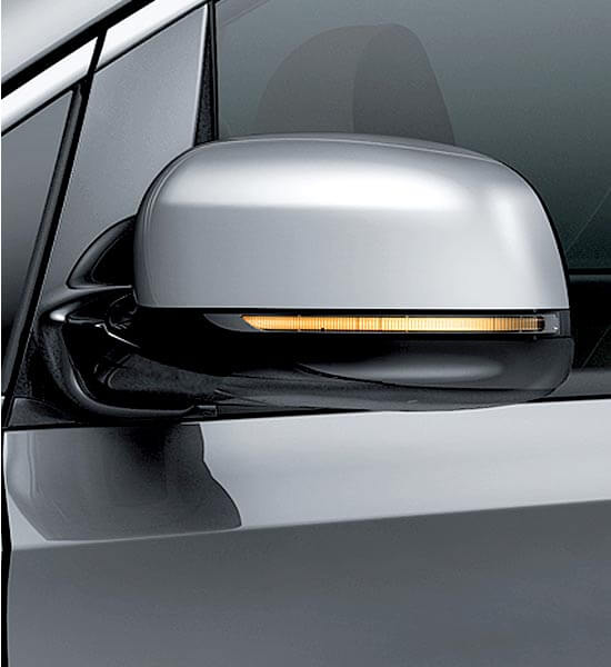 LED side repeaters and auto folding mirrors